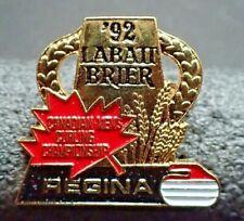 Curling Pin - Canadian Men's Championship Labatt Brier Regina '92