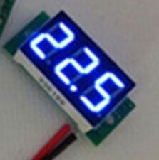 Ultra small Blue LED Volt Meter 4.5V~30V Doesn't Require Power