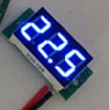 Ultra Mini Tamaño Azul LED Voltímetro 4.5V ~ 30V no requiere alimentación