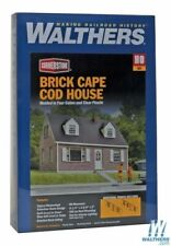 Brick Cape Cod House Building Kit HO - Walthers Cornerstone #933-3774  vmf121