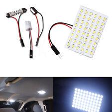 10X Car Festoon T10 BA9S White LED 48SMD Panel Interior Dome Map Light Bulb Lamp