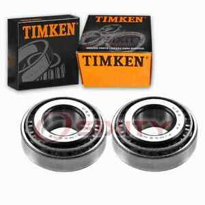 2 pc Timken Front Outer Wheel Bearing and Race Sets for 1979-1986 Maserati en