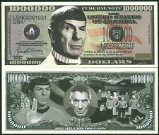 STAR TREK MR. SPOCK BILL + EARTH OCCUPATION CURRENCY ALIENS FANTASY NOTE NEW!