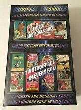 Universal Treasures Baseball Box! 1952 Topps Pack Search! Mantle Aaron Mays?