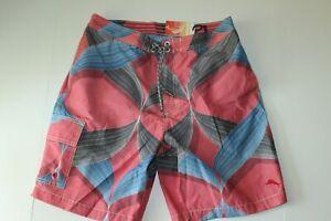 Tommy Bahama Swim Suit Board Trunks Toowoomba Twist Red 34 - 36 waist Large L