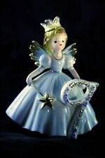 Joseph Originals Porcelain 9th Birthday Angel Blue With Gold Crown and Wand