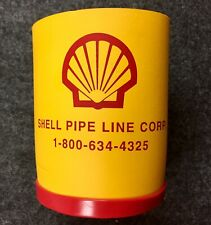 Vintage Shell Pipe Line Corp. Cushing Oklahoma Can Cozy Oil Gasoline Crude M