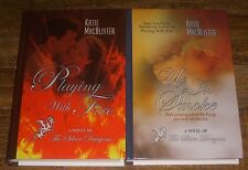 2 Katie MacAlister Hardcover Large Print Lot PLAYING WITH FIRE, UP IN SMOKE *HC*