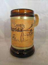 Florida Collectible Souvenir Mug Wood Handle, Cork Band on Outside