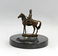 9937640 Bronze Skulptur sign.A.Canova Napoleon auf Onyx-Schale 20x18cm