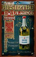 A. Junod Absinthe Blechschild Schild 3D geprägt gewölbt Tin Sign 20 x 30 cm