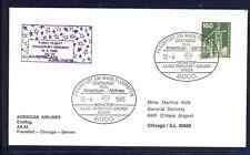 48518) AA FF FRankfurt - Chicago 12.4.85, Brief EF 160PF Ind. u.T.