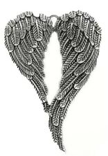 Antique Silver Angel Wings Eagle Charms Bird Feather Pendant Beads Crafts Cards