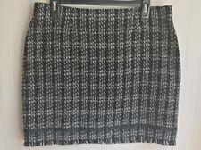 Uniform John Paul Richard Womens Skirt Size 10 Petite Black White Gingham Tweed