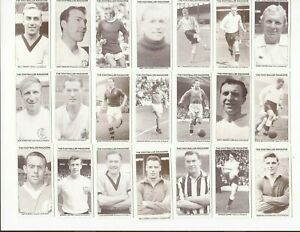 THE FOOTBALLER MAGAZINE~HALL OF FAME CARDS ~ CHOOSE YOUR CARDS
