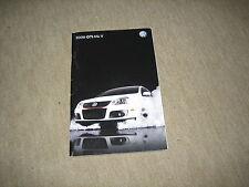 2008 VW Golf GTI Mk V USA Prospekt Brochure, 40 Seiten