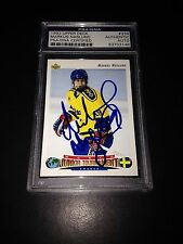 Markus Naslund Signed 1992-93 Upper Deck Rookie Card PSA Slabbed #83703148