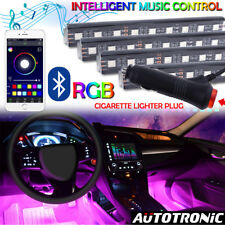 4Pcs 36LED Car Interior Atmosphere Neon Lights Strip Wireless Bluetooth Control