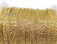 GNAYY Gold 5meter stainless steel 2.2mm Oval chain Jewelry Finding Chain Marking