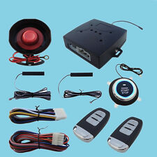 Car Alarm System Keyless Entry & Engine Ignition Push Starter Button Kit Secure