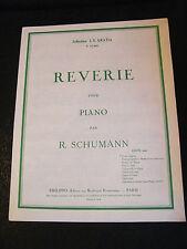 Partition Reverie pour Piano R Schumann Music Sheet