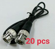 20 pcs 2ft COAXIAL BNC MALE TO BNC MALE PATCH CABLE RG-59 COAXIAL PATCH CABLE