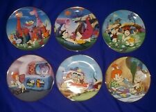 The Flintstones by The Franklin Mint Vintage set of 6 collectible plates