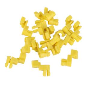 For Toyota Left Right Door Lock Rod Retainer Clips 6929312040 Nylon Yellow 15pcs