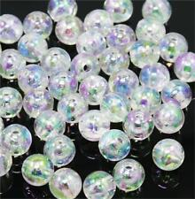 Clear 'ab' Lustre Round Acrylic Beads 6mm 150 per Bag Top Quality Acr11