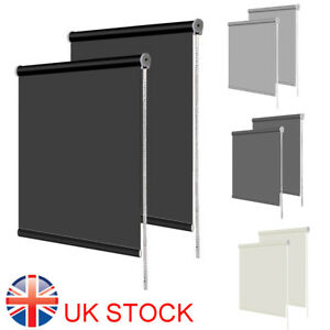 BLACKOUT ROLLER BLINDS - THERMAL EASY FIT TRIMMABLE - UP TO 180CM WIDTH