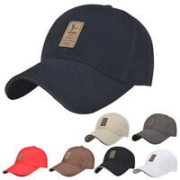 NE_ Men's Polo Baseball Cap Outdoor Golf Caps Cotton Adjustable Sports Hat Delux