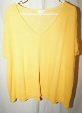 New listing Time and True yellow XL (16-18) v neck short sleeve ties t shirt