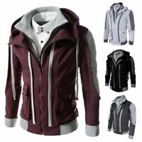 Sweater Men's Tops Hooded Warm Outwear Coat Sweatshirt Winter Jacket Hoodie