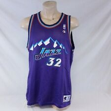 Vintage Utah Jazz Karl Malone Champion Jersey NBA Basketball Throwback 90s 48