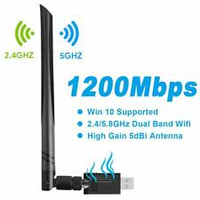 Gaoni USB WiFi Adapter 1200Mbps WiFi Dongle with Dual Band 5.8GHz/2.4GHz USB