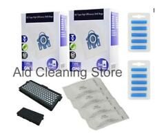 10 x 3D Type GN Bags + HEPA Filter For MIELE C3 Complete Vacuum + Fresheners