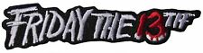 """Friday the 13th Name Logo 4"""" Embroidered Patch"""