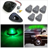 5 X Smoked Lens Green LED Autos Cab Roof Running Marker Lights Top Running Lamps