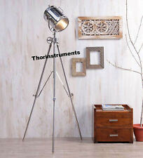 Theater Nautical Hollywood Spot Light Steel Tripod Floor Lamp Home Decor
