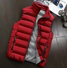 New Mens Slim Fit Gilet Body Warmer Collar Cotton Down Padded Coat Puffer Jacket