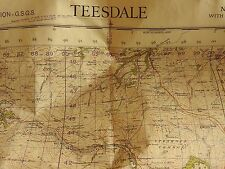 1952 WAR OFFICE SHEET 84 TEESDALE NATIONAL GRID MAP MOD MILITARY