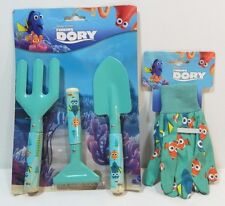 Finding Dory Gardening Hand Tool Set Disney Pixar 3 Pieces Plus Garden Gloves