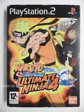Coffret jeu NARUTO SHIPPUDEN ULTIMATE NINJA 4 sur playstation 2 PS2 complet