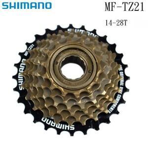 Shimano MF-TZ21 7 Speed Bicycle Bike Freewheel 14- 28T Index - Screw On