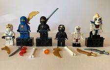 6 Lego Ninjago Minifigures & Weapons ZANE DX skeleton COLE DX RARER MINI FIGURES