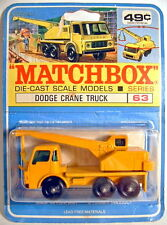 Matchbox RW 63C Dodge Crane Truck rare canadische Blisterkarte mit Modellabb.