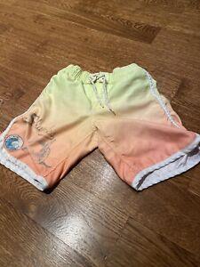 Gap Boys Size 5 Small Swimming Shorts Good Condition Yellow Orange