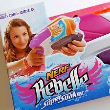 Nerf Rebelle Cascade Super Soaker Pink Water Blaster Squirt Gun Summer Fun New