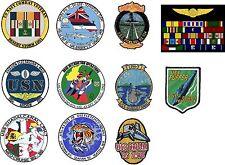 "30 - 4"" x 4"" Custom U.S. Navy Combat Veteran Patch Decals/Stickers Lot"
