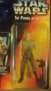 Luke Skywalker Dagobah Variant Short Sabre Long Tray Kenner MOC 1995 Star Wars
